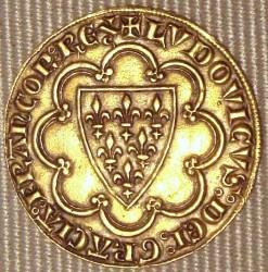 Впервые золотой экю был отчеканен при Людовике IX в 1266 году