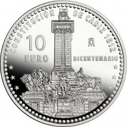 Испания, 10 евро (200 лет первой испанской конституции)