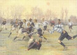Игра между Stade Français и Racing Club de France в 1890-х