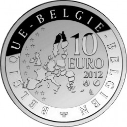 Belgium 2012. 10 euro. Pierre de Coubertin