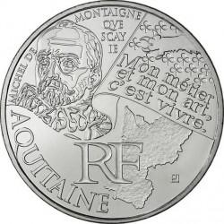 France 2012. 10 euro. Aquitaine. Michel de Montaigne