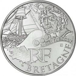 France 2012. 10 euro. Bretagne. Robert Surcouf