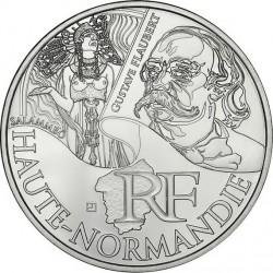 France 2012. 10 euro. Haute-Normandie. Gustave Flaubert