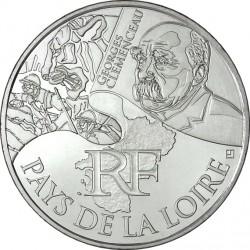 France 2012. 10 euro. Pays-de-la-Loire. Georges Clemenceau