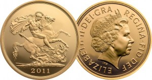 Классический золотой соверен с реверсом образца 1817 года