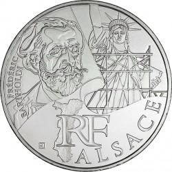 France 2012. 10 euro. Alsace. Frédéric Auguste Bartholdi