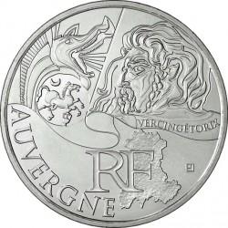 France 2012. 10 euro. Auvergne. Vercingetorix