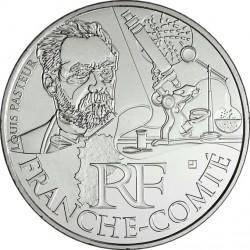 France 2012. 10 euro. Franche-Comté. Louis Pasteur