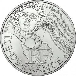 France 2012. 10 euro. Île-de-France. Edith Piaf