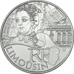 France 2012. 10 euro. Limousin. marquise de Pompadour