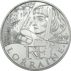 France 2012. 10 euro. Lorraine. Jeanne d'Arc