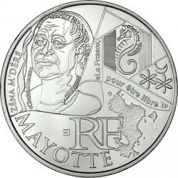 France 2012. 10 euro. Mayotte. Zéna M'Déré