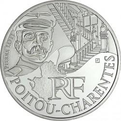France 2012. 10 euro. Poitou-Charentes. Pierre Loti