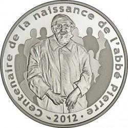 france 2012. 10 euro. 100 ans de la naissance de l'abbé Pierre
