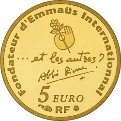 france 2012. 5 euro. 100 ans de la naissance de l'abbé Pierre