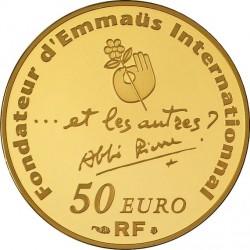 france 2012. 50 euro. 100th Anniversary of abbe' Pierre's birth