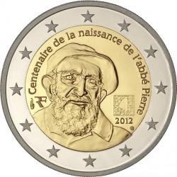 france 2012. 2 euro. 100th Anniversary of abbé Pierre's birth