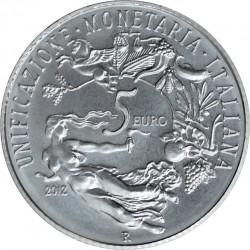 italy 2012. 5 euro. 150° ANNIVERSARIO DELL'UNIFICAZIONE MONETARIA ITALIANA