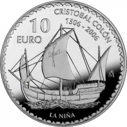 Spain 2006. 10 euro Christopher Columbus. Niña