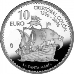 Spain 2006. 10 euro Christopher Columbus. Santa María