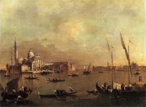Saint Mark's basin, looking towards the island of San Giorgio Maggiore