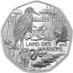 Austria 5 euro 2013. Land des Wassers (Ag 800)