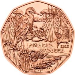 Austria 5 euro 2013. Land des Wassers (Cu)