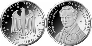 Germany 10 euro 2013 Georg Buchner