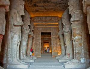 Interior of the Great Temple of Abu Simbel