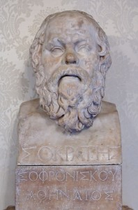 Herm with bust of Socrates. Marble, Roman copy from a Greek original of the late Hellenistic era.