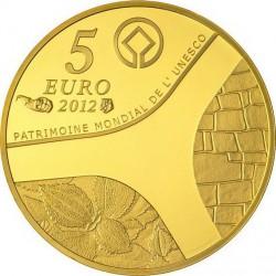 France 2012. 5 euro. UNESCO 2012 - Le temple d'Abou-Simbel