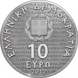 Greece 2012. 10 euro.  Greek culture Tragedians – Aeschylus