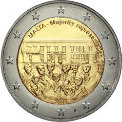 "Malta €2 2012 ""Majority Representation 1887"""