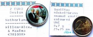 Нидерланды 2 евро 2011 цветная