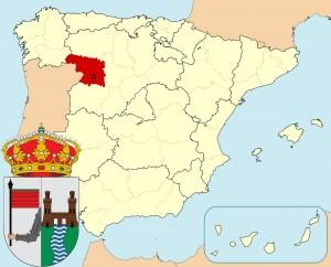 Самора на карте Испании и герб города