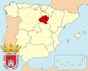 Сория на карте Испании и герб города