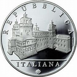 Italy 2012. 10 euro. Italy of Arts. Ferrara