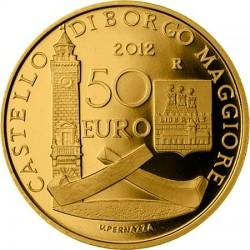 San Marino 2012. 50 euro. Elementi architettonici sammarinesi. Borgo Maggiore