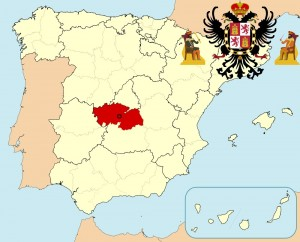 Толедо на карте Испании и герб города