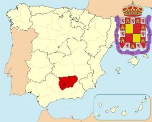 Хаэн на карте Испании и герб города