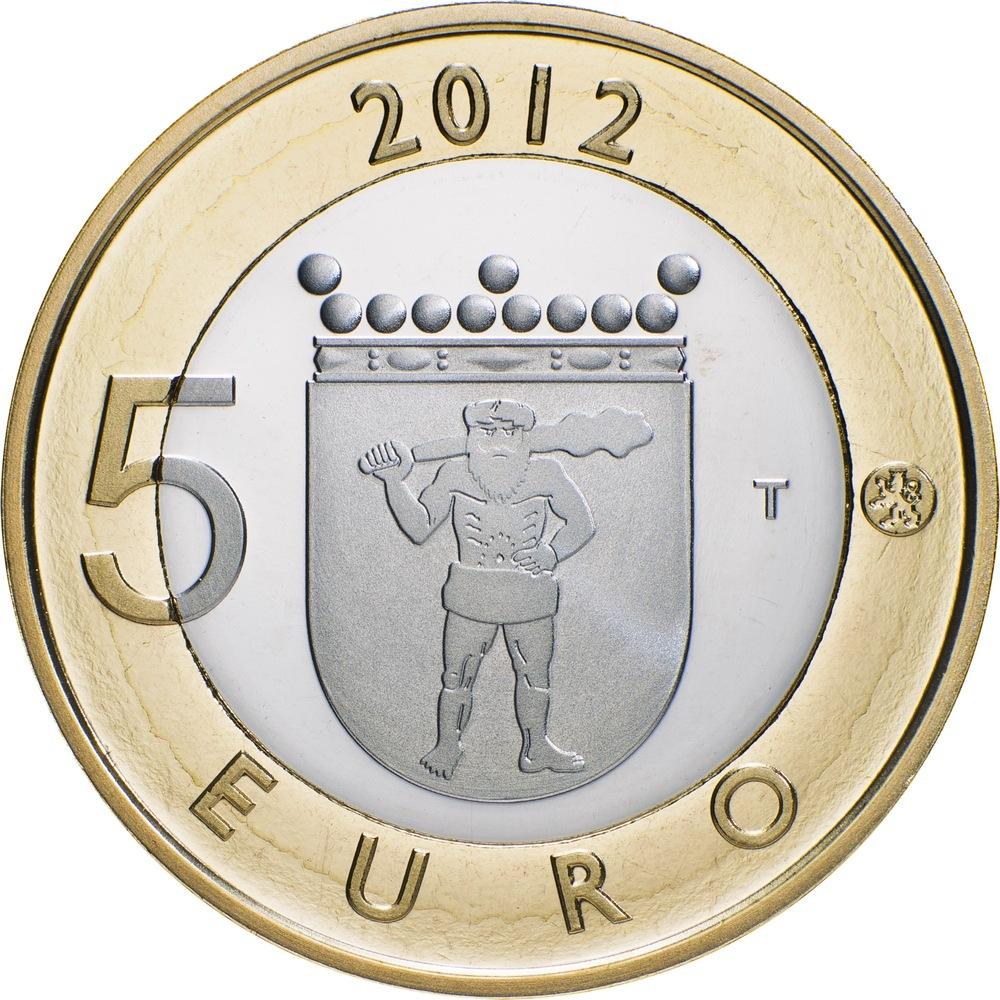 Финляндия 5 евро монеты казахстана 1997 года 1тенге