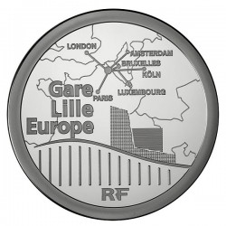 France 2010. 50 euro (silber). Gare de Lille-Europe