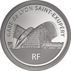France 2012. 50 euro (silber). Gare de Lyon Saint-Exupéry