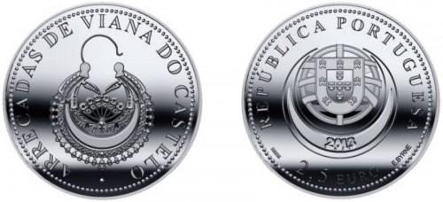 Portugal 2013. 2.5 euro. arrecadas