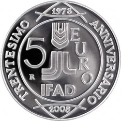italy 2008 5 euro IFAD