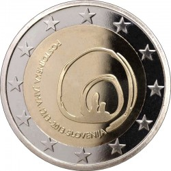 Slovenia 2013. 2 euro. 800th anniversary of visits to Postojna Cave