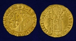 Gold florin of Joan of Anjou