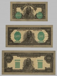 Set of three designs banknotes