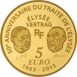 France 2013. 5 euro Europa. Traite de l'Elysee