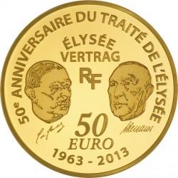 France 2013. 50 euro Europa. Traite de l'Elysee